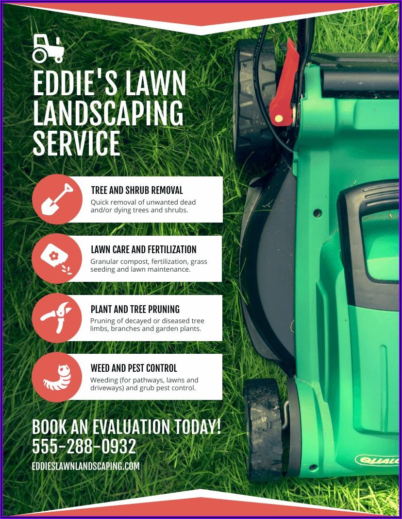 Lawn Care Brochure Templates