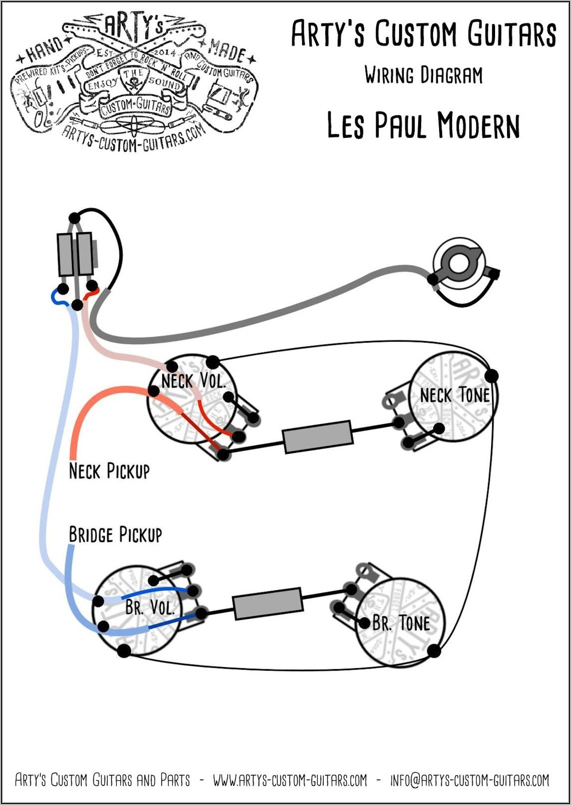 Les Paul Guitar Wiring Diagram