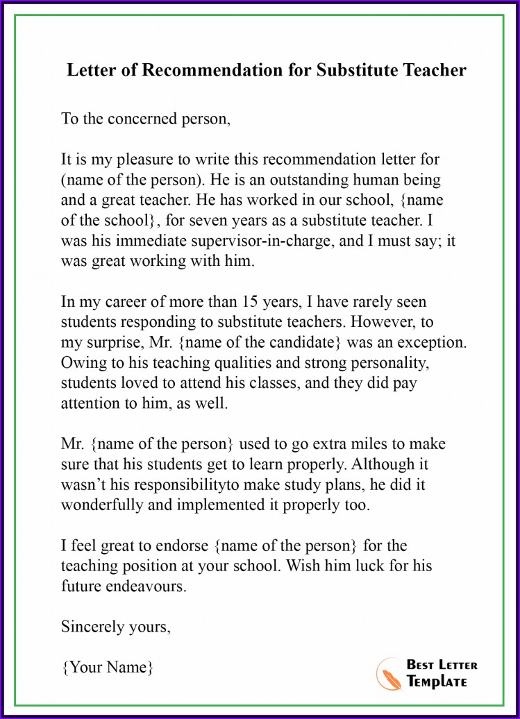 Letter Of Recommendation For Colleague Example