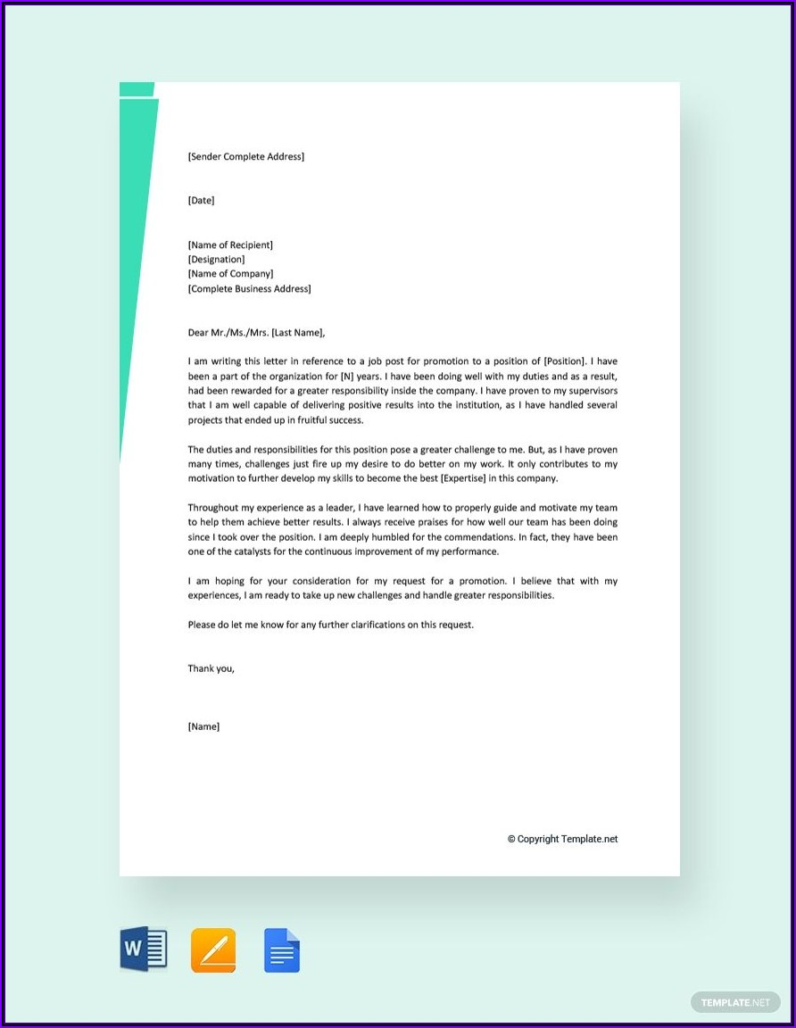 Letter Of Recommendation For Coworker Promotion