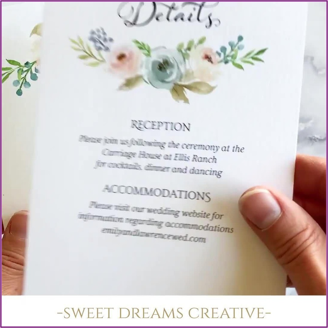 Light Blue Floral Wedding Invitations