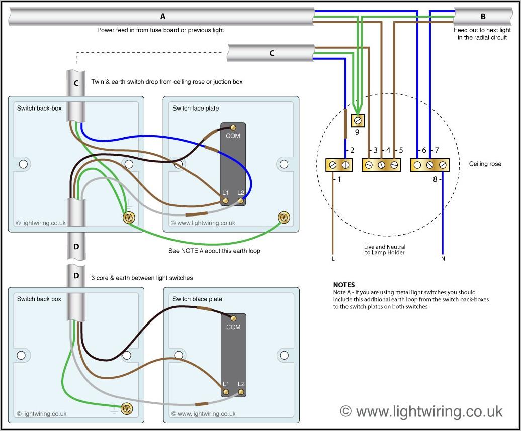 Light Wiring Diagram 2 Way Switch