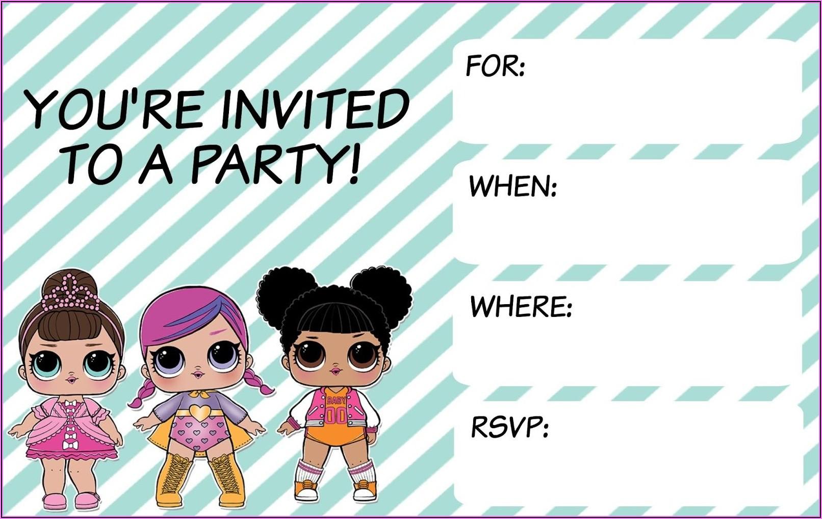 Lol Surprise Birthday Invitations Printable