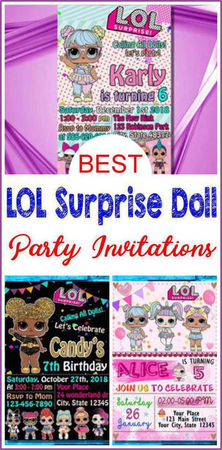 Lol Surprise Birthday Invitations