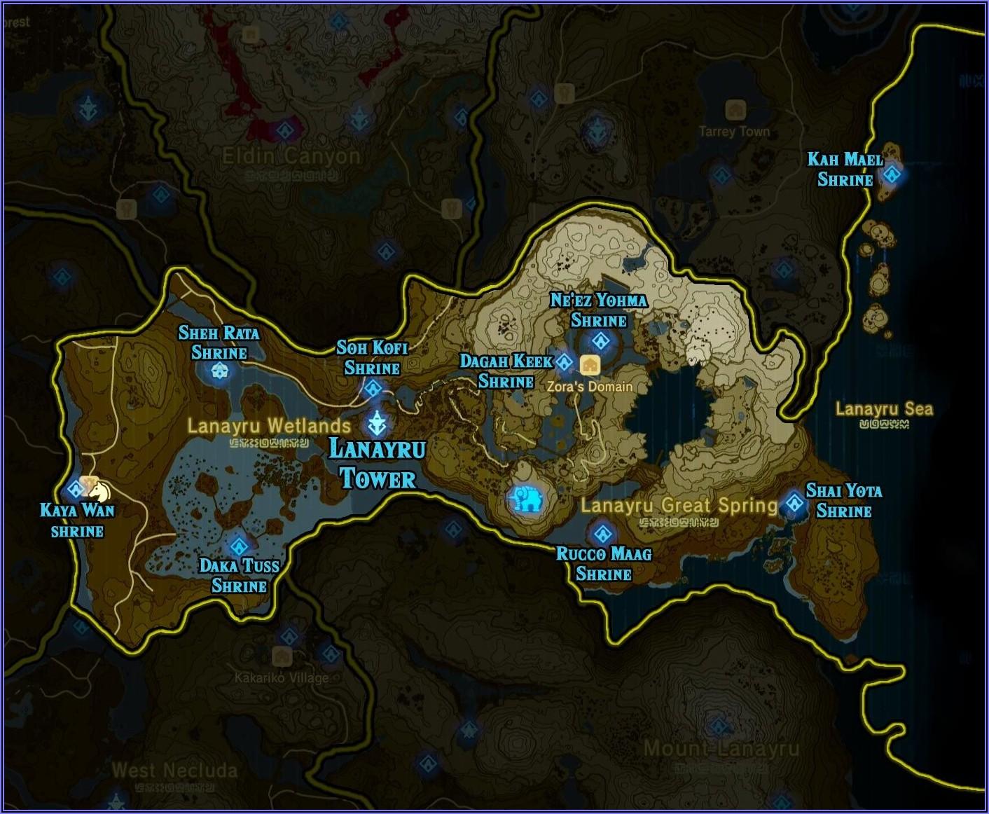 Loz Botw Shrine Locations Map