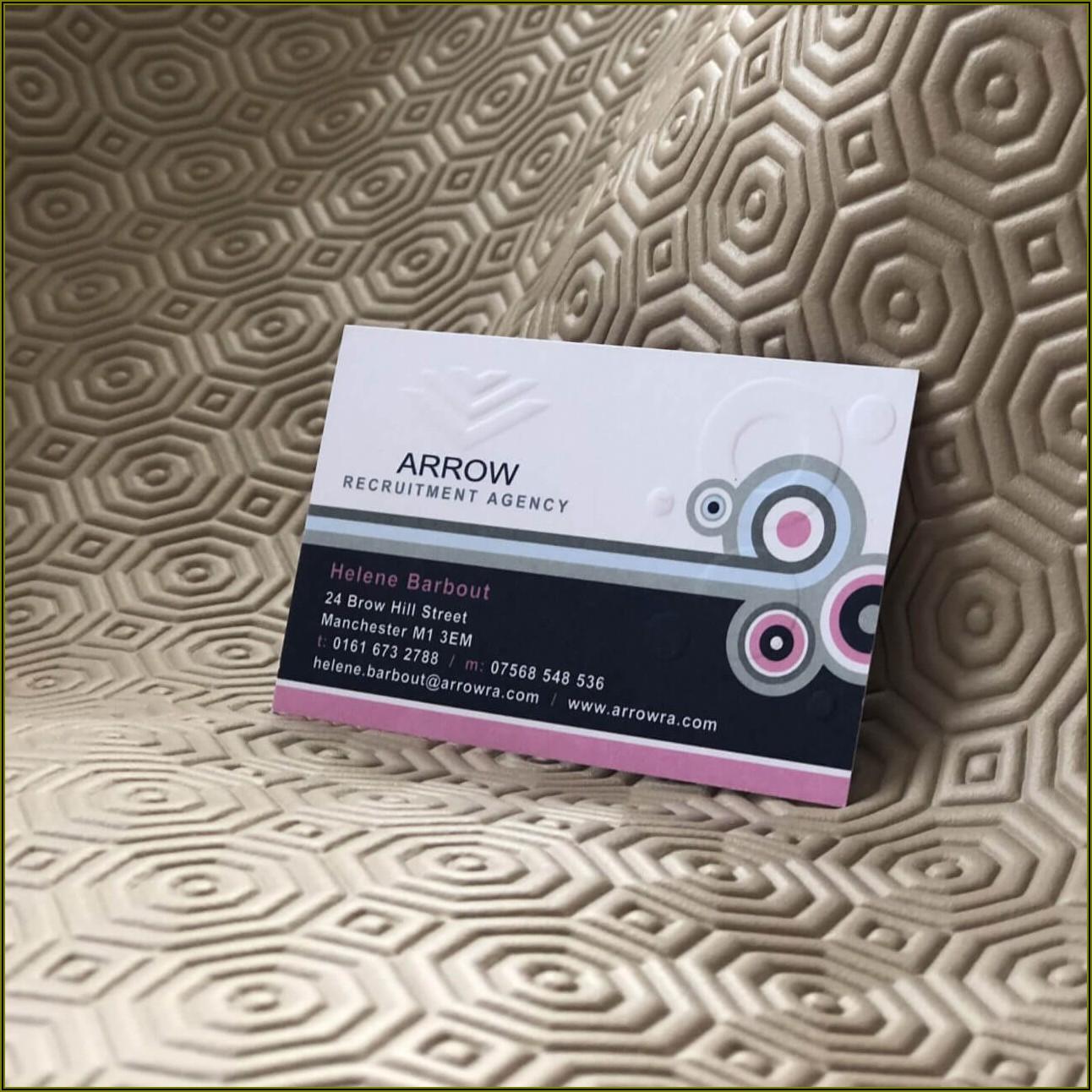 Luxury Embossed Business Cards Uk