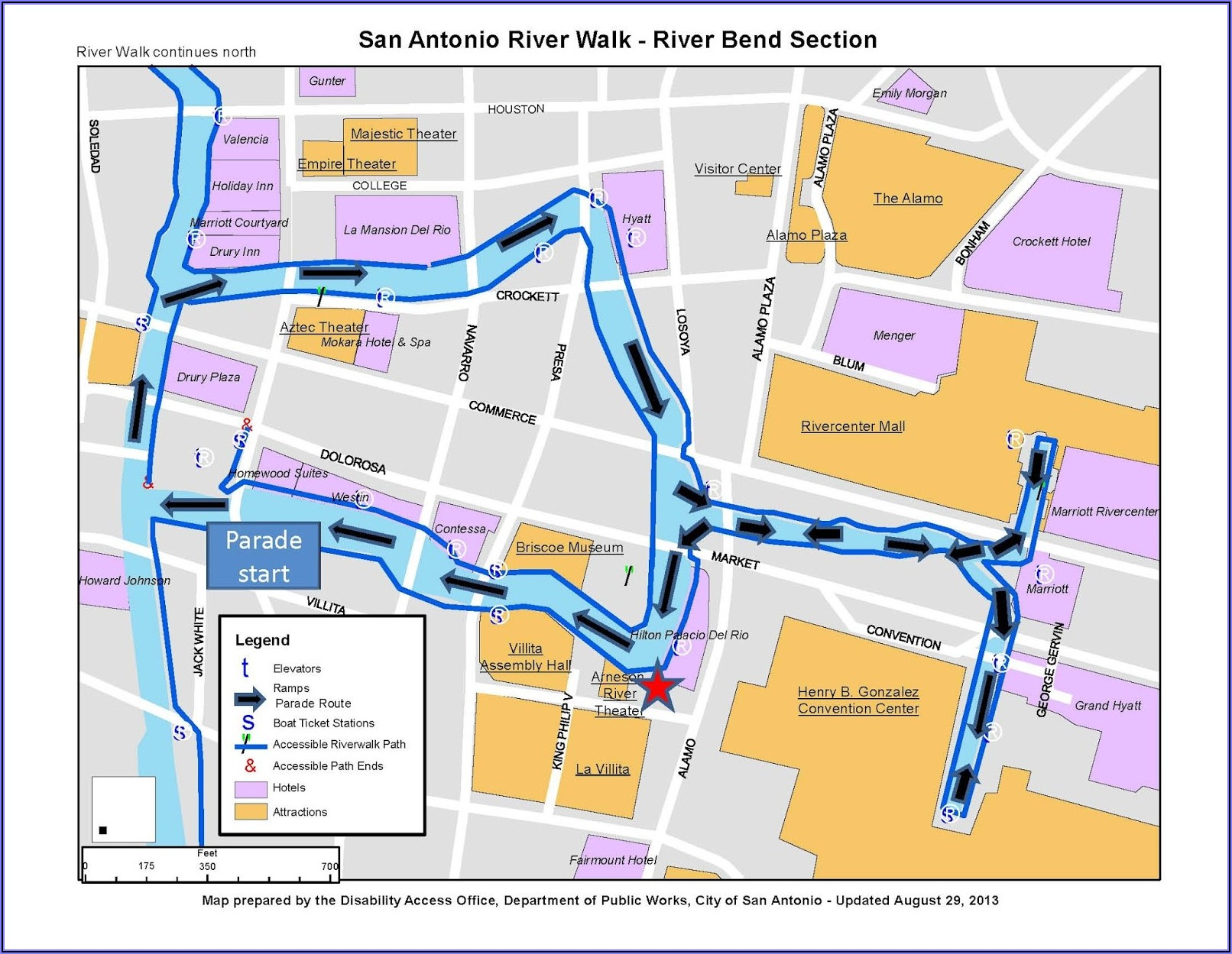 Map Of San Antonio Riverwalk Area