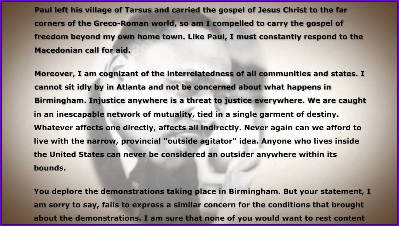 Martin Luther King Jr Letter From Birmingham Jail Full Text
