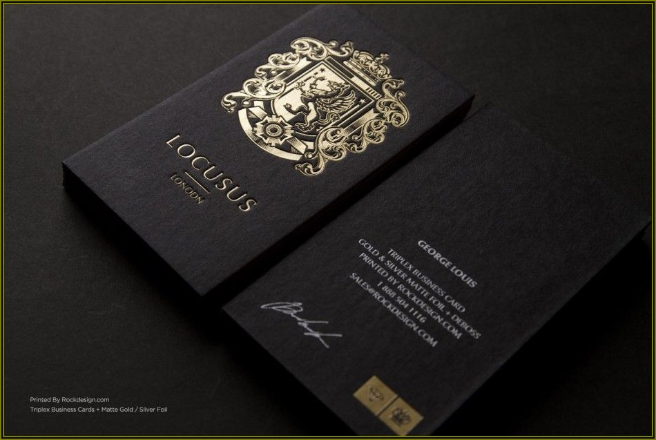 Matte Black And Gold Business Cards