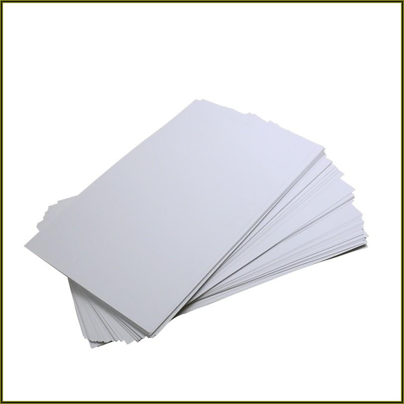 Matte Black Plastic Business Cards
