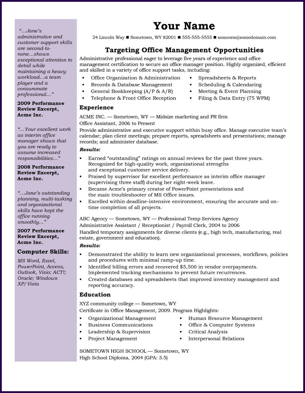 Medical Coding Resume Sample No Experience