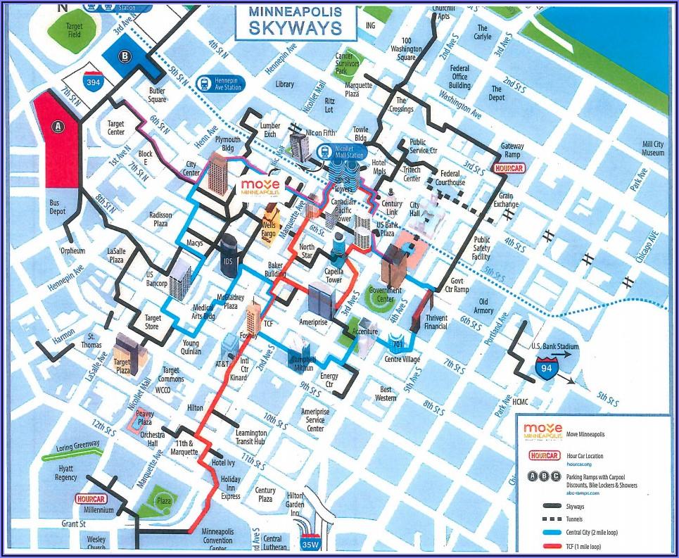 Minneapolis Skyway Map 2018