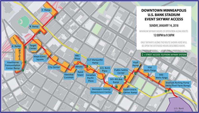 Minneapolis Skyway Map 2019
