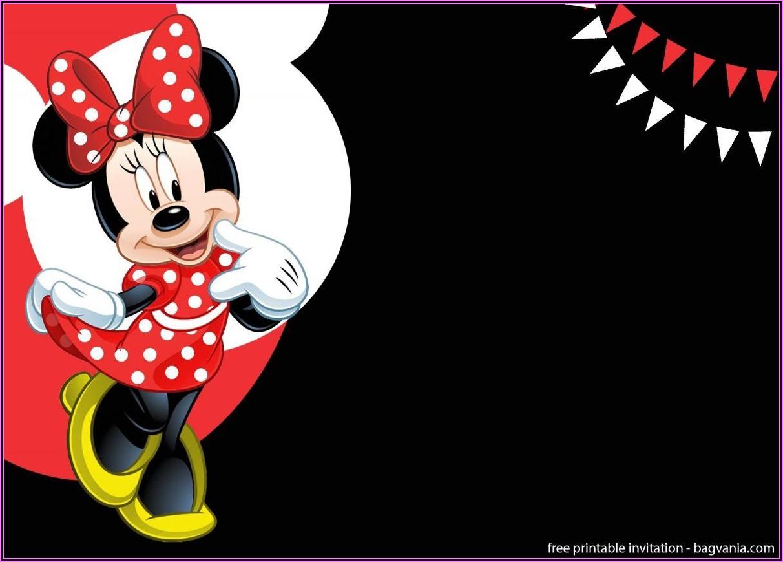 Minnie Mouse Birthday Invitation Template Free