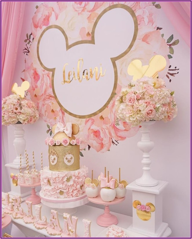 Minnie Mouse Birthday Party Pink And Gold