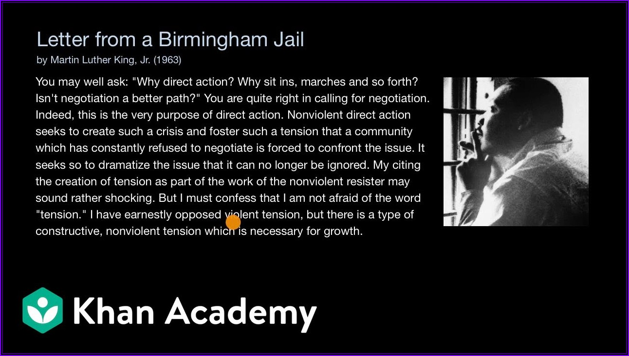 Mlk Letter From Birmingham Jail Pdf