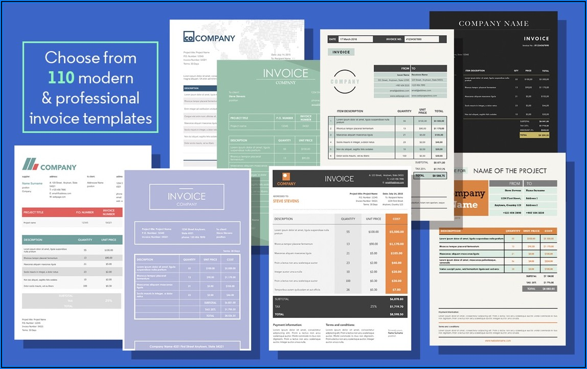 Ms Word Invoice Templates Free Download