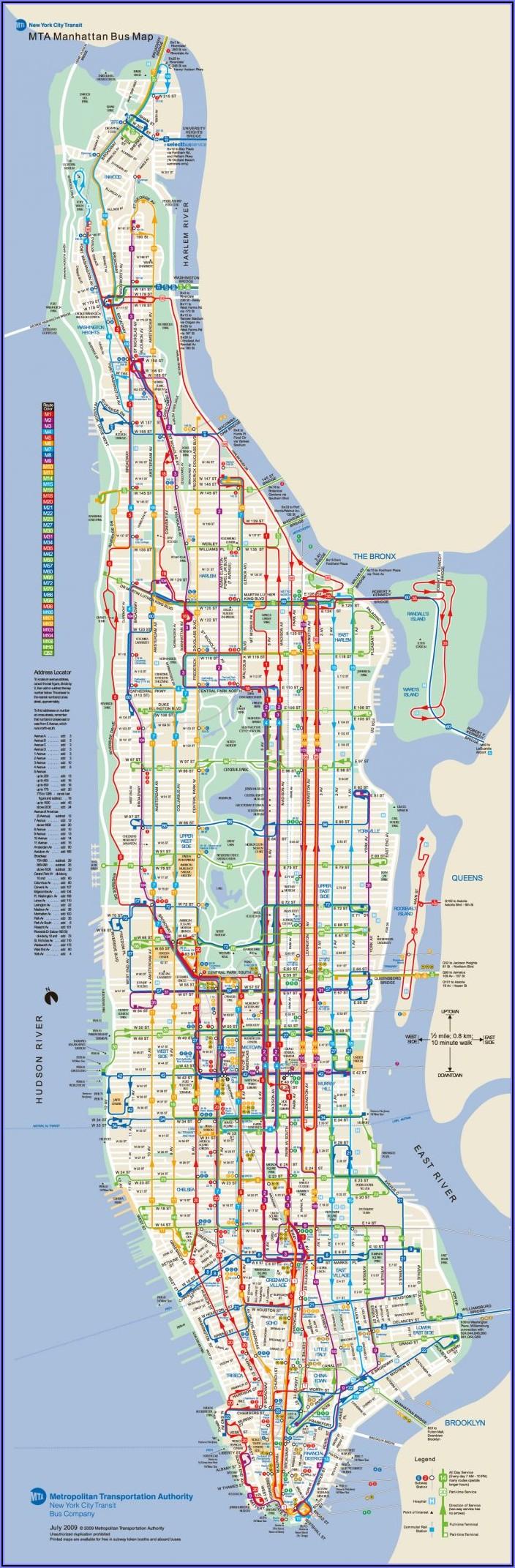 Mta Bus Route Map Manhattan