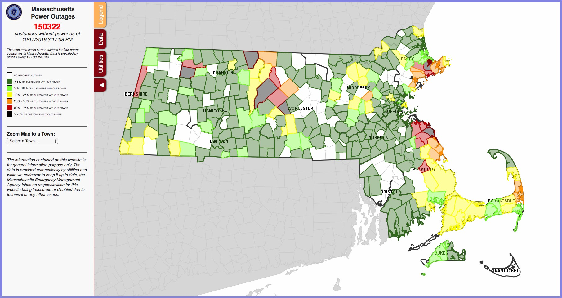 National Grid Power Outage Map Maine