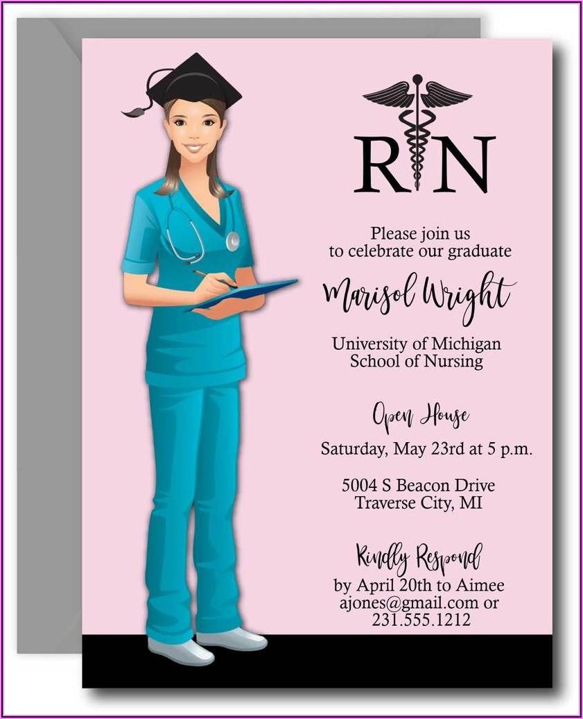 Nursing School Graduation Invitation Template Free