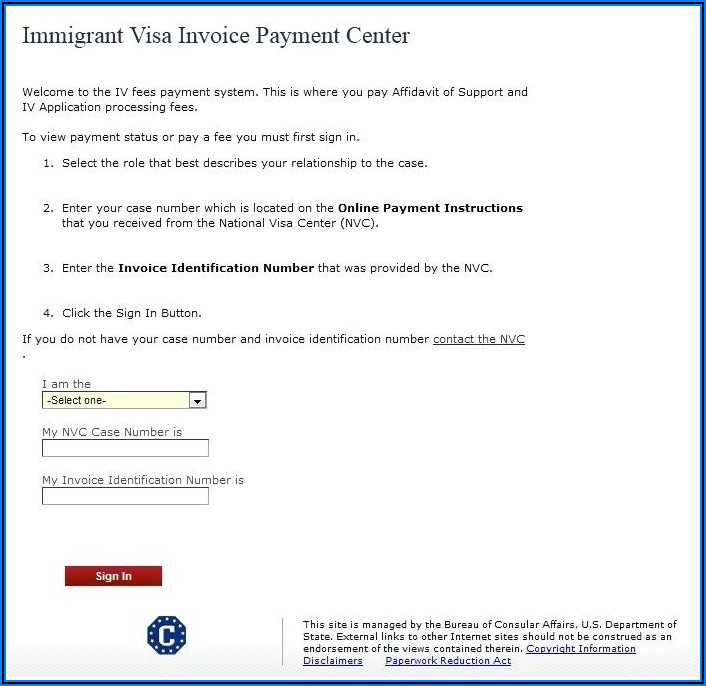 Nvc Invoice Id Number Sign In