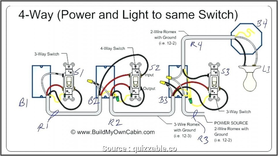 One Way Light Switch Diagram Uk