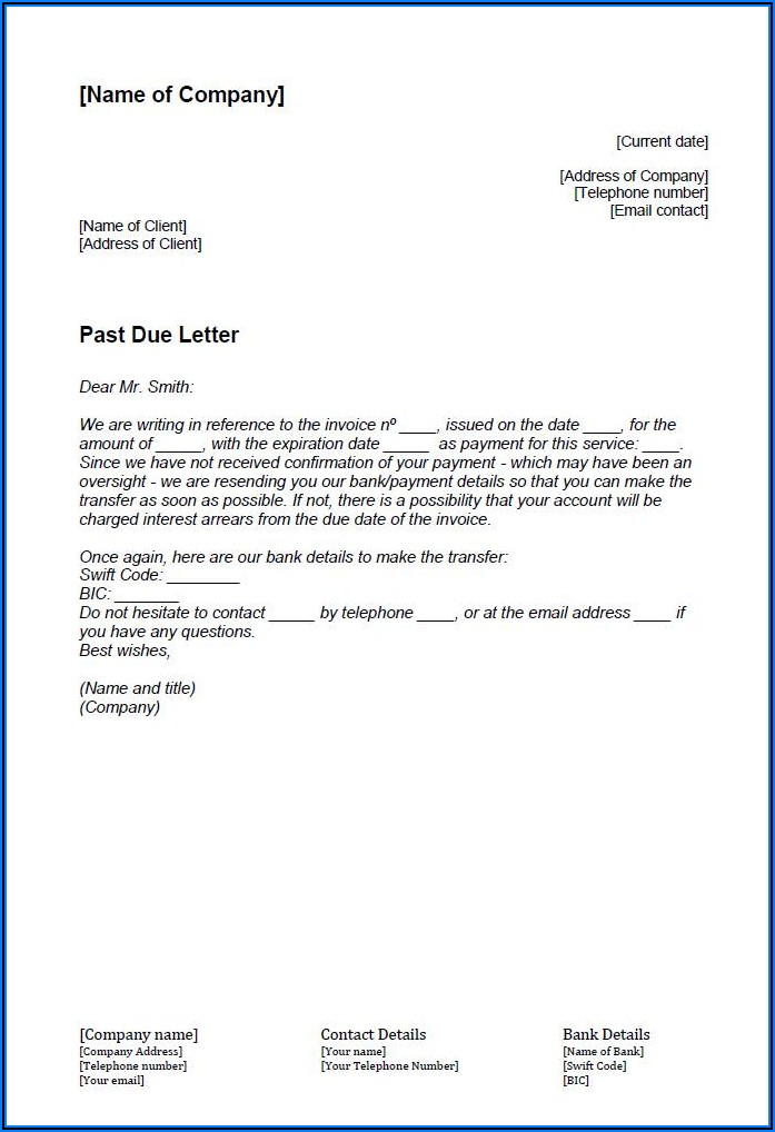 Past Due Invoice Reminder Email