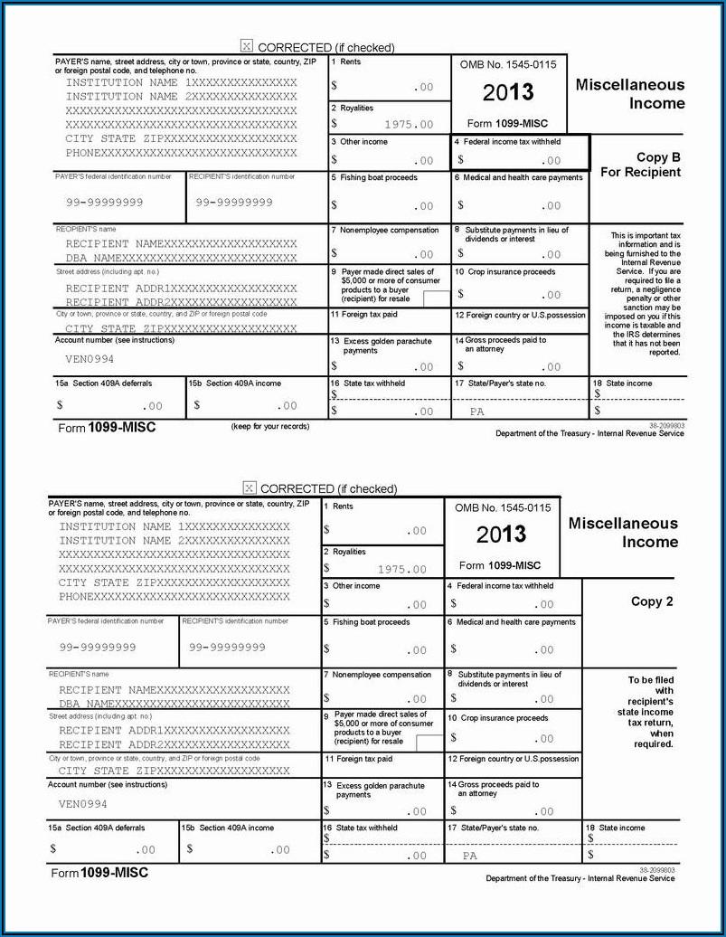 Pennsylvania Form 1099 Filing Requirements