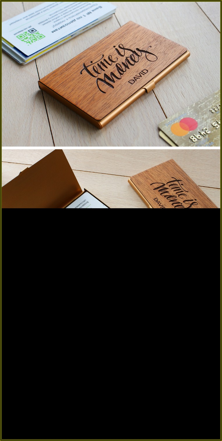 Personalized Business Card Holder Etsy