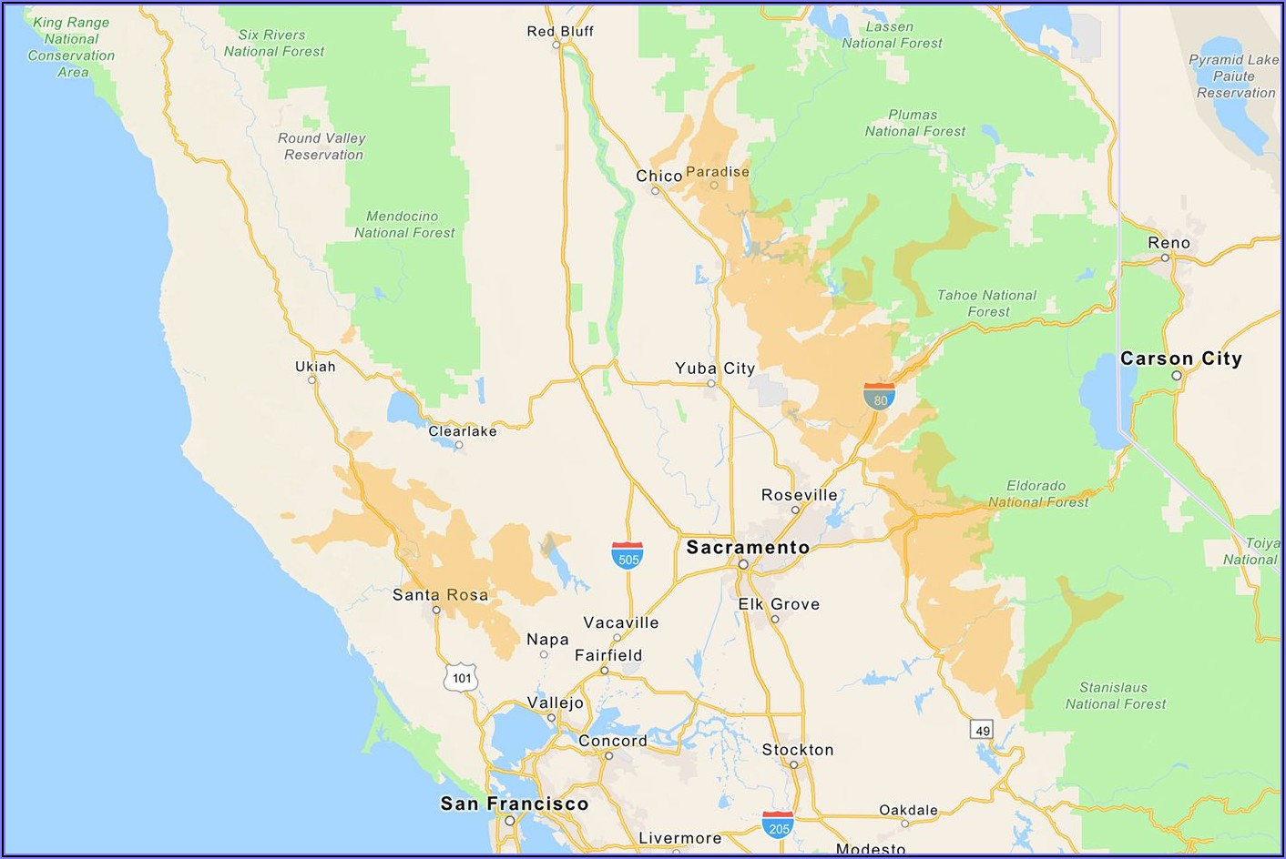 Pge Power Outage Map California