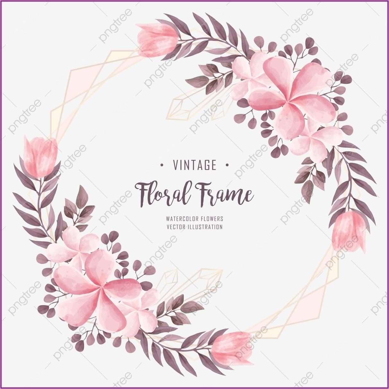 Pink Floral Wedding Invitation Background