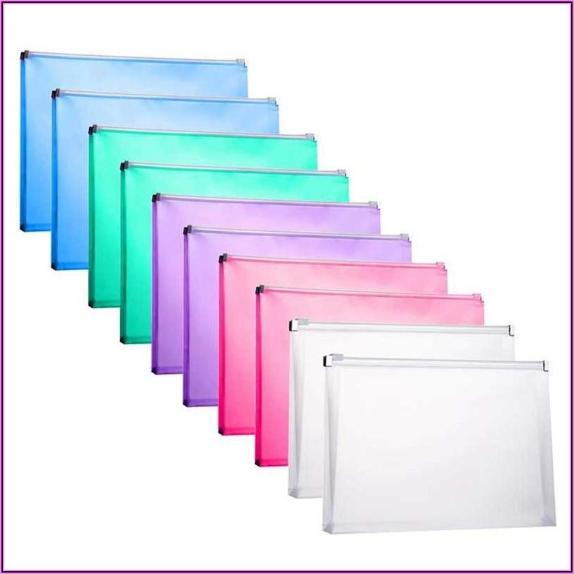 Poly Zip Letter Size Envelope With Large Pocket