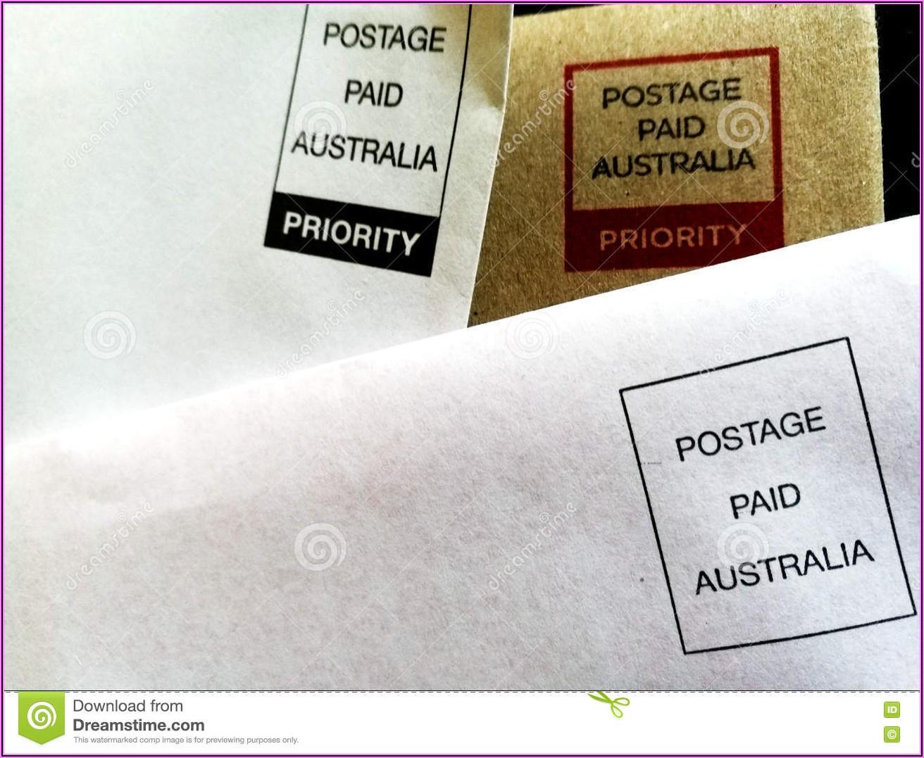 Postage Paid Envelopes Australia