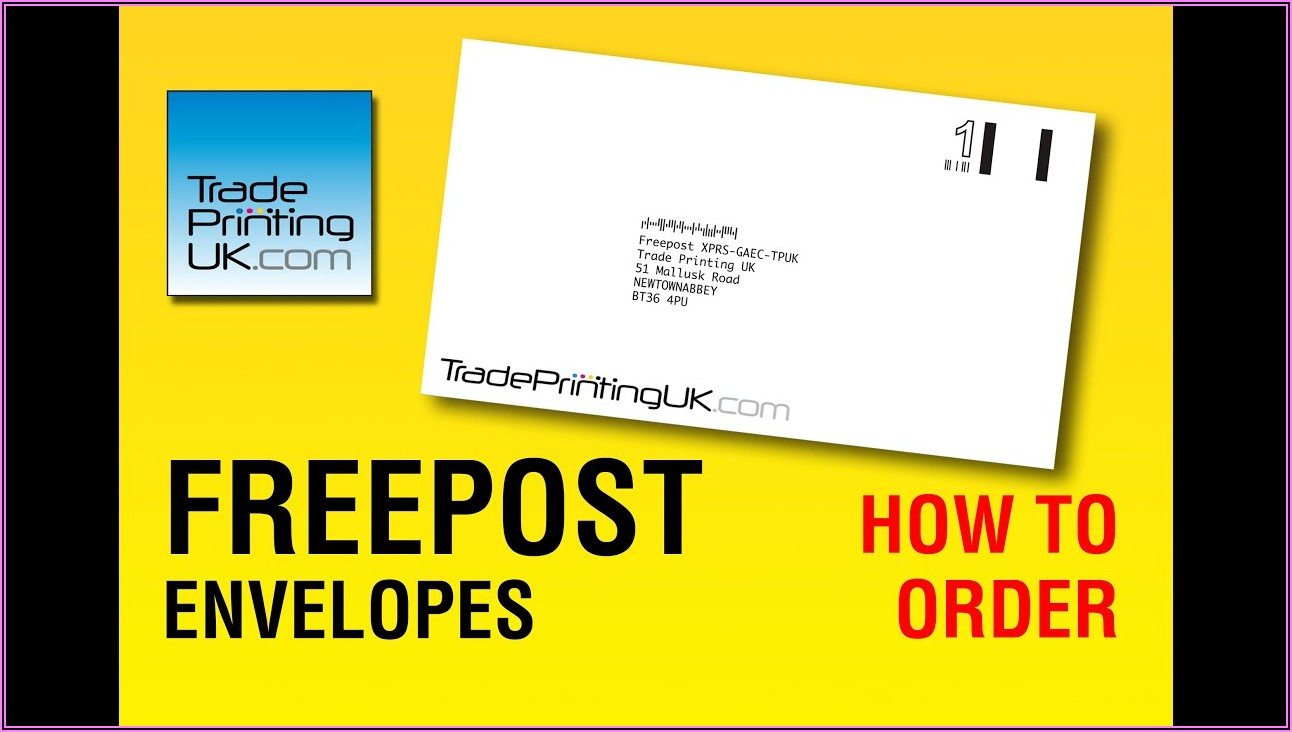 Postage Paid Envelopes Uk