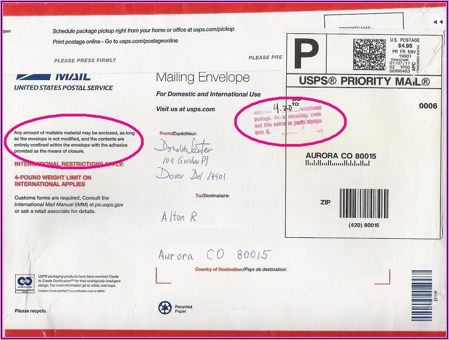 Postage Paid Return Envelopes Usps