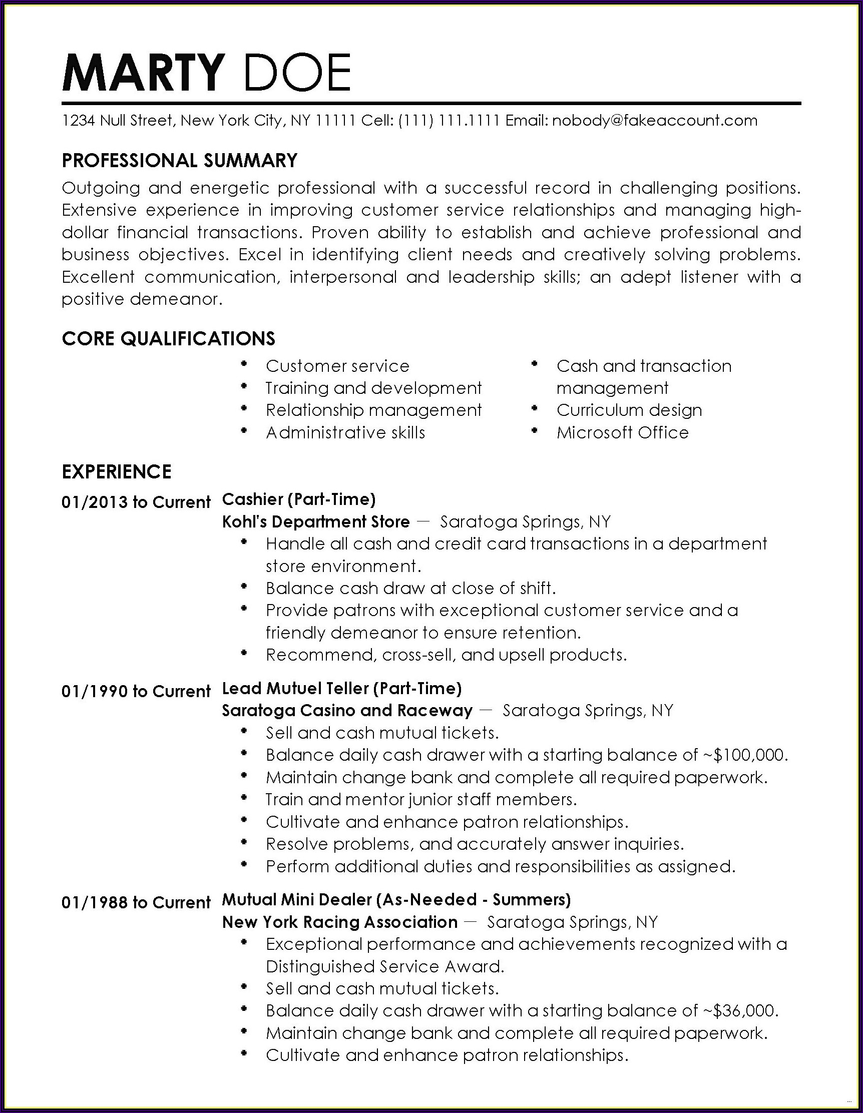 Professional Resume Writing Services Nyc