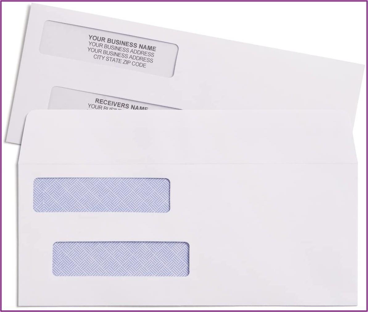 Quickbooks Check Envelopes Size