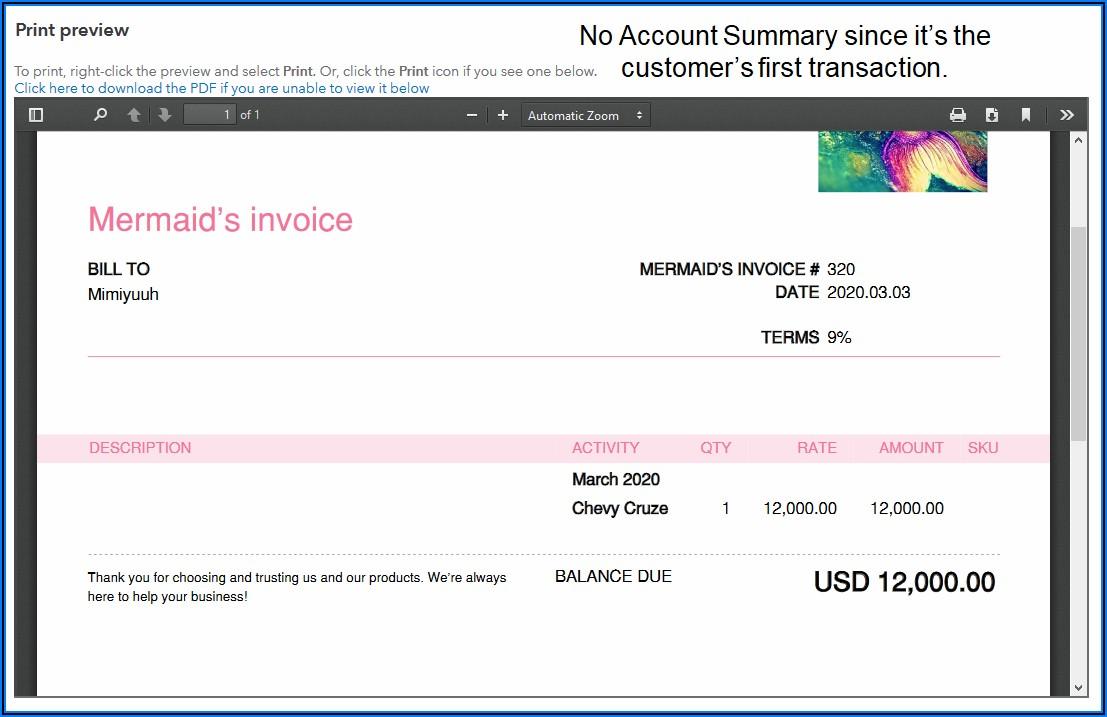 Quickbooks Invoice Due Date