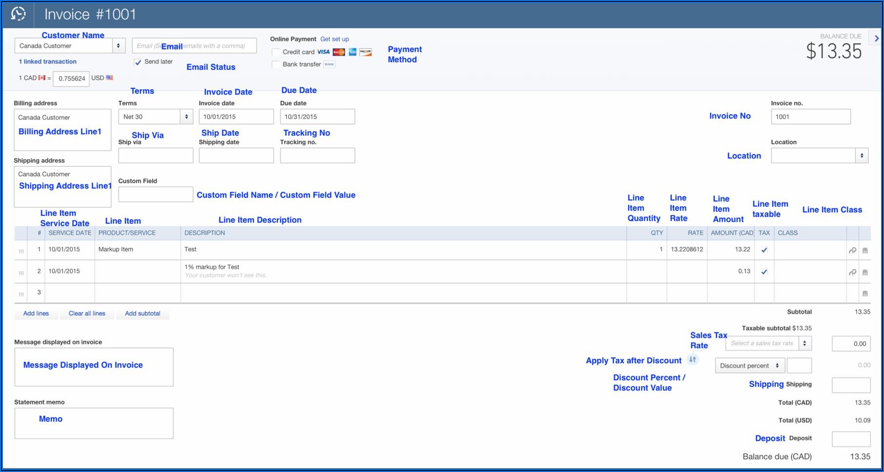 Quickbooks Set Invoice Due Date