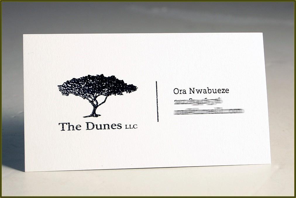 Raised Ink Business Card Printing