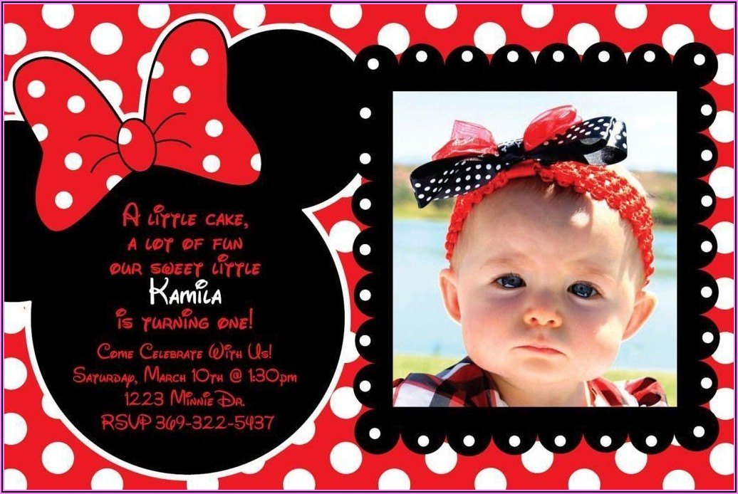 Red Minnie Mouse Birthday Invitation Templates Free