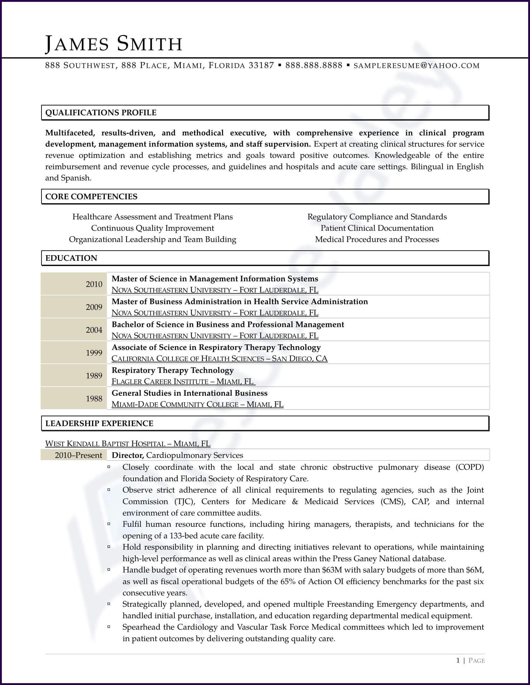 Registered Nurse Curriculum Vitae Sample