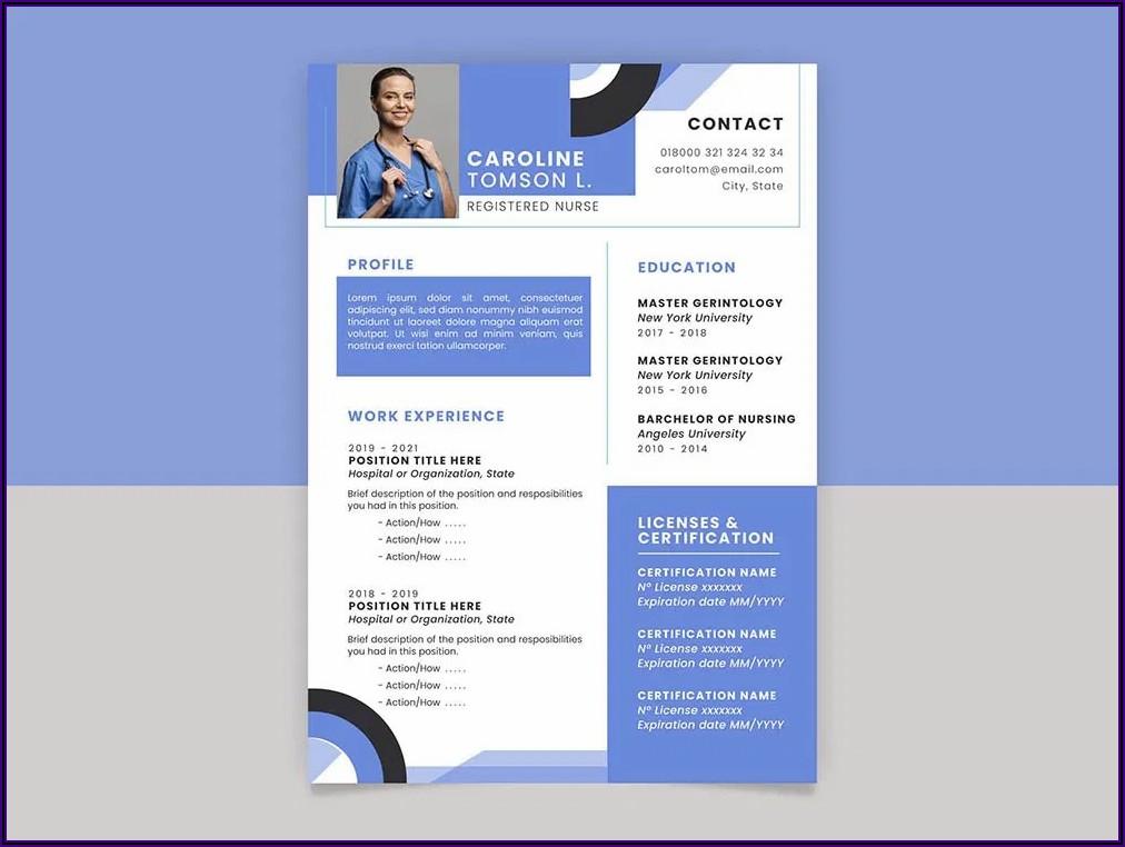 Registered Nurse Cv Template Free
