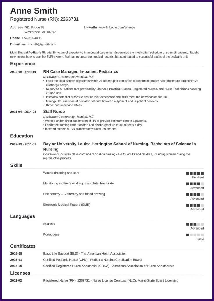 Registered Nurse Resume Example Australia