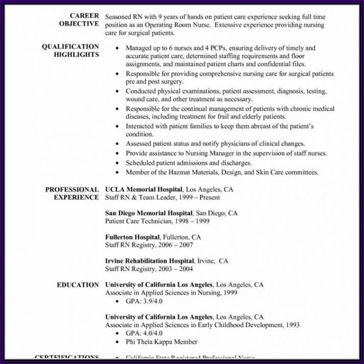 Registered Nurse Resume Sample Canada