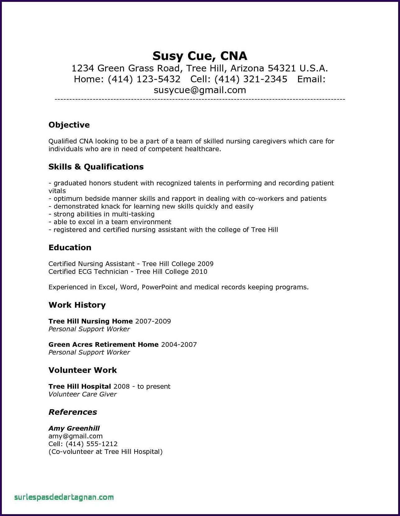 Registered Nurse Resume Sample For Nurses Philippines