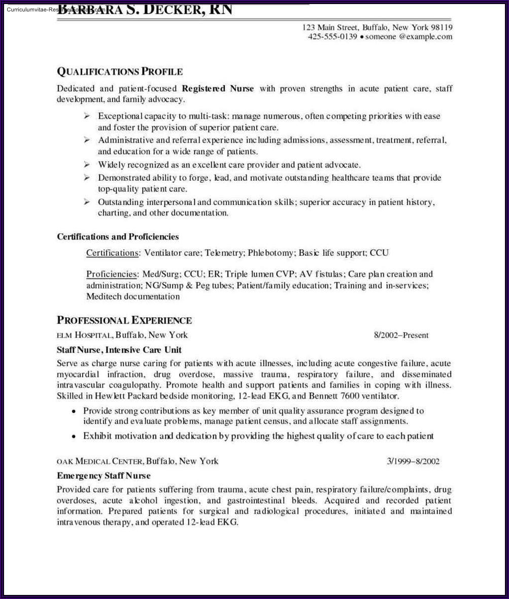 Registered Nurse Resume Template Download