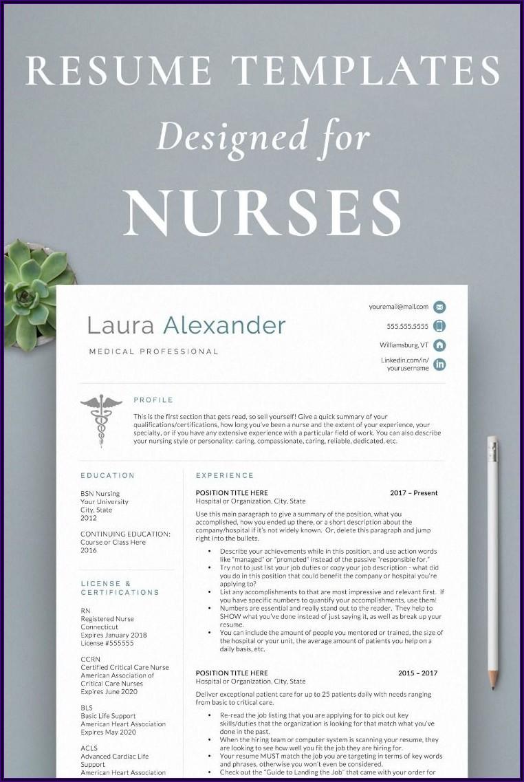 Registered Nurse Resume Templates Free