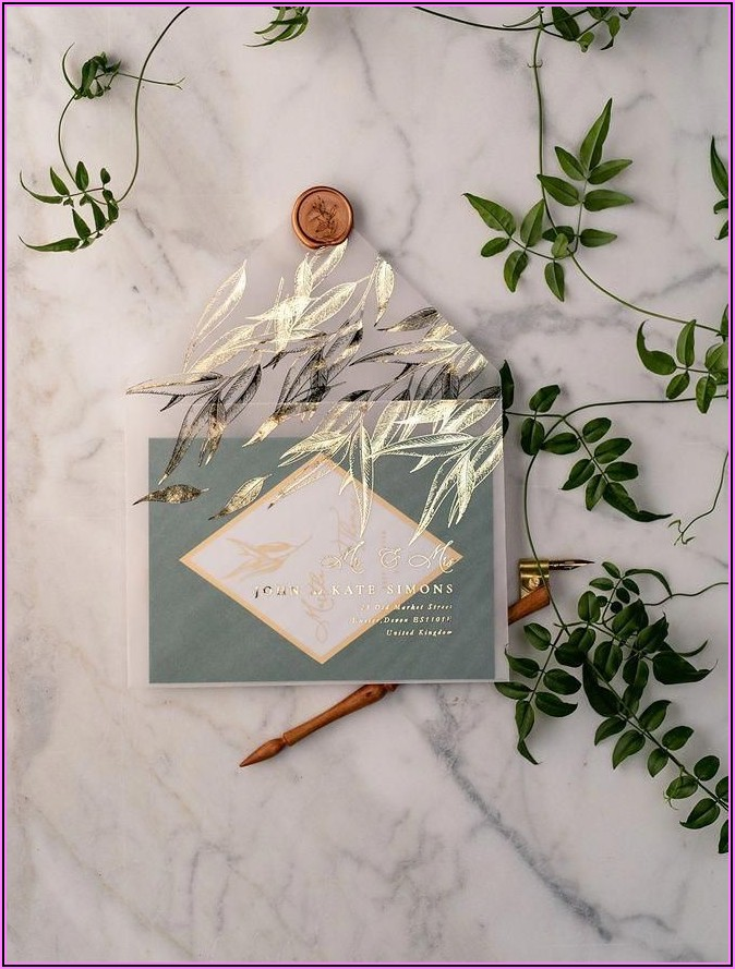 Rose Gold Wedding Invitations Cheap