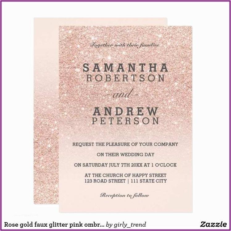Rose Gold Wedding Invitations Pinterest